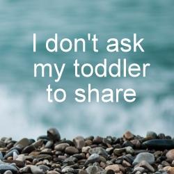 toddler sharing